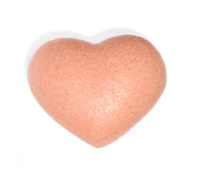 One Love Organics Cleansing Sponge French Pink Clay Heart Shape