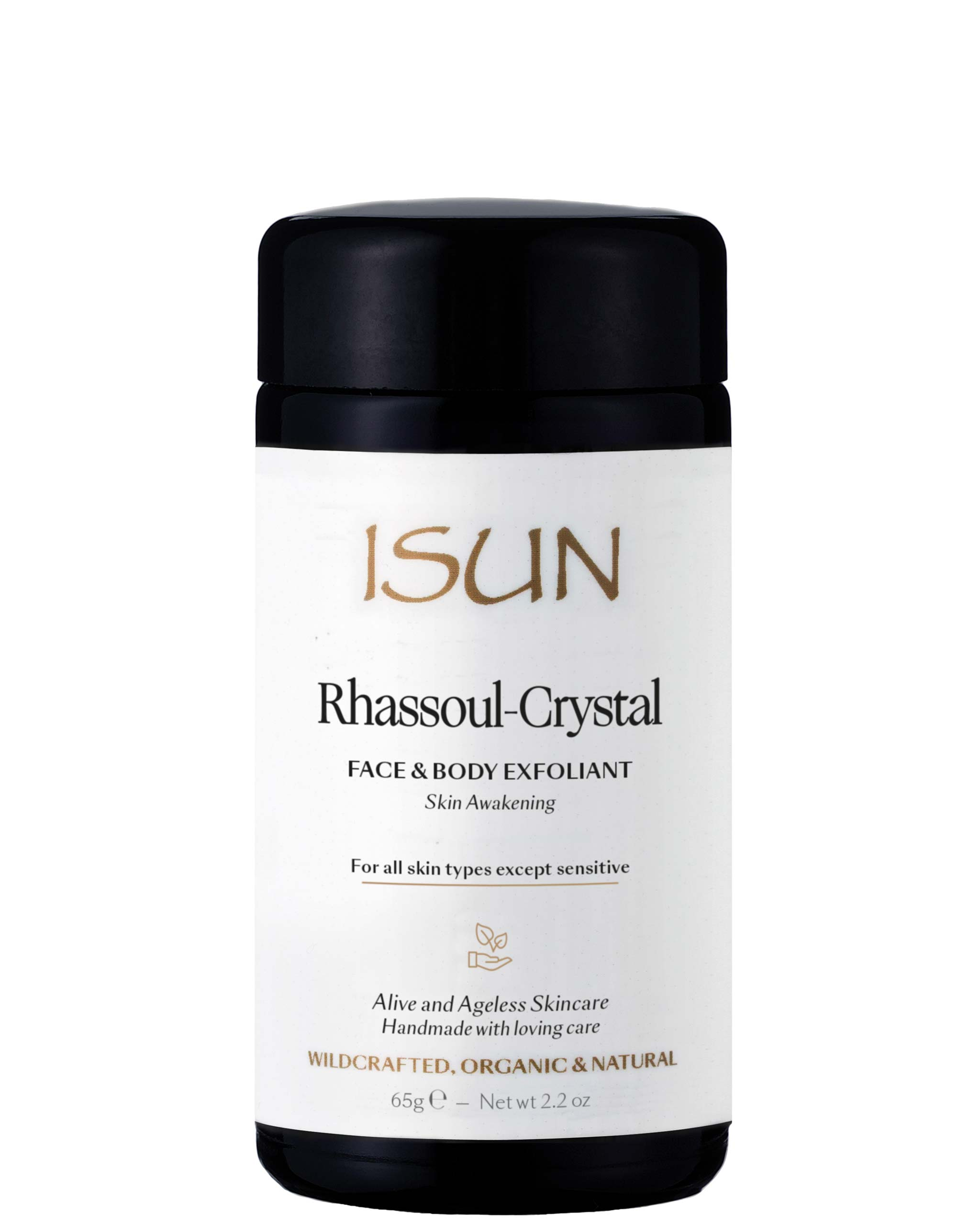 ISUN Rhassoul-Crystal / Face & Body Exfoliant 100ml, ISUN - ShopConsciousBeauty.com