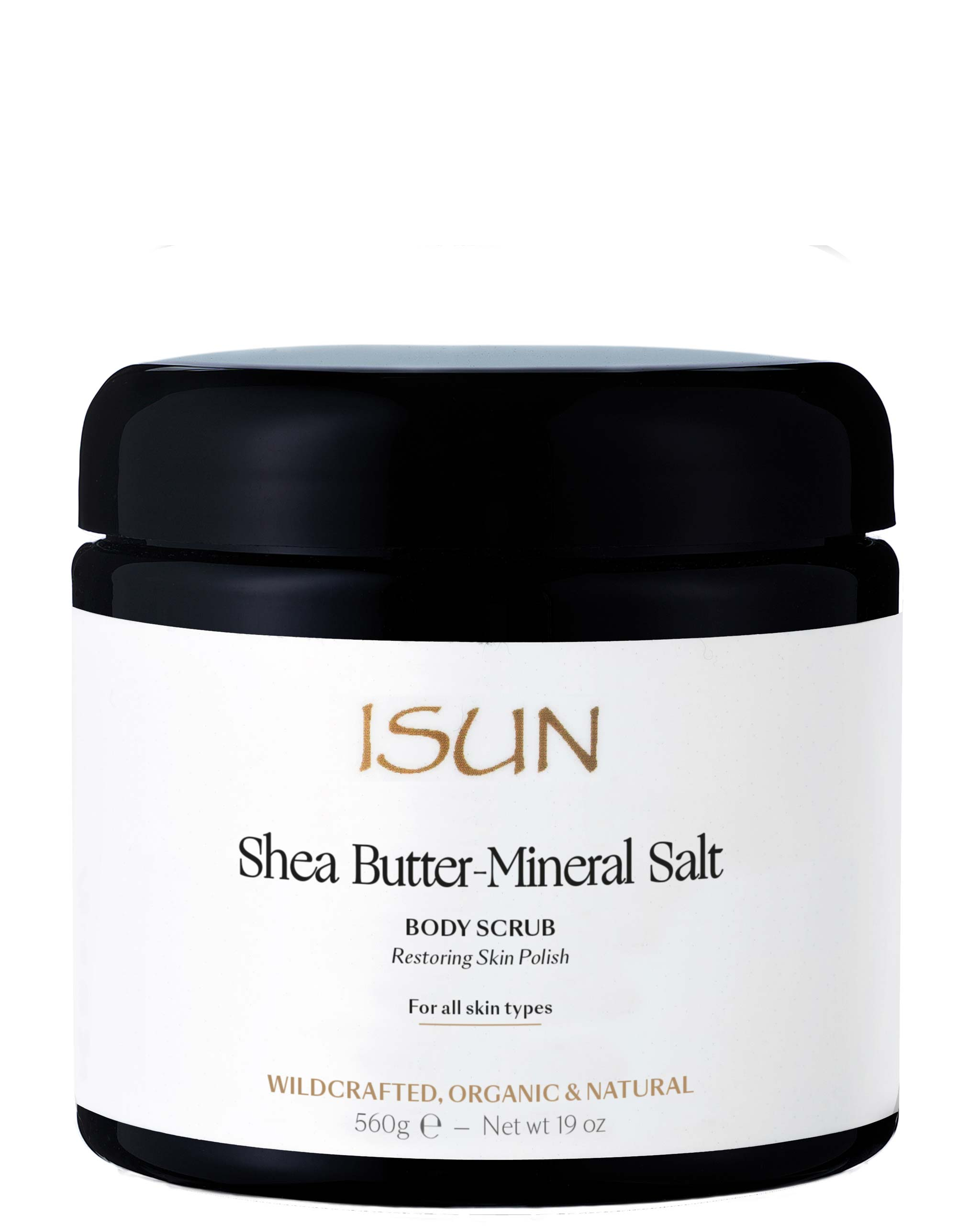 ISUN Shea Butter-Mineral Salt / Body Scrub 480ML, ISUN - ShopConsciousBeauty.com