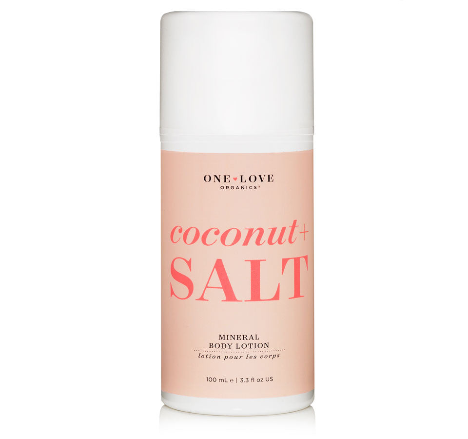 One Love Coconut + Salt Mineral Body Lotion 3.3oz