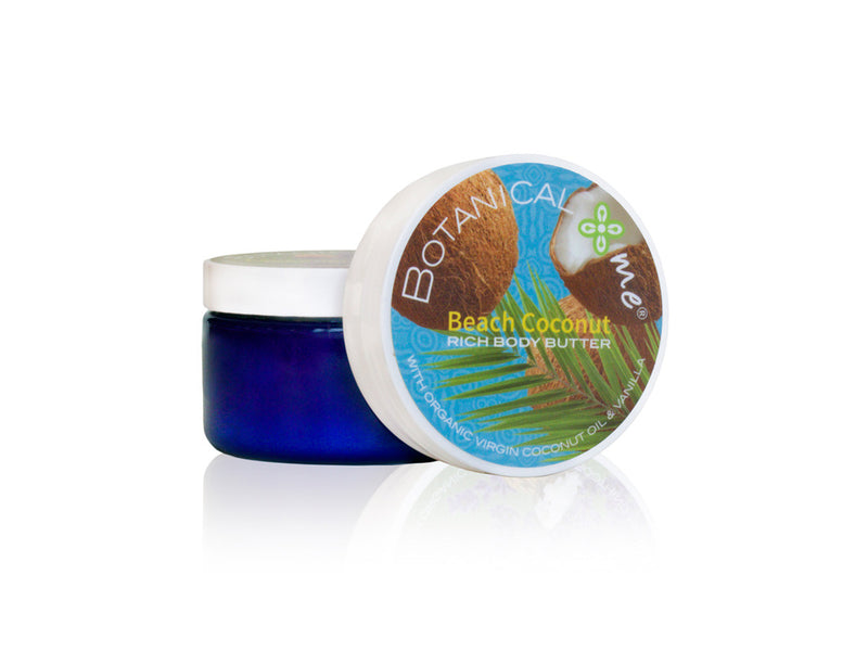 Botanical Me Body Butter Beach Coconut 4oz, Botanical Me - ShopConsciousBeauty.com