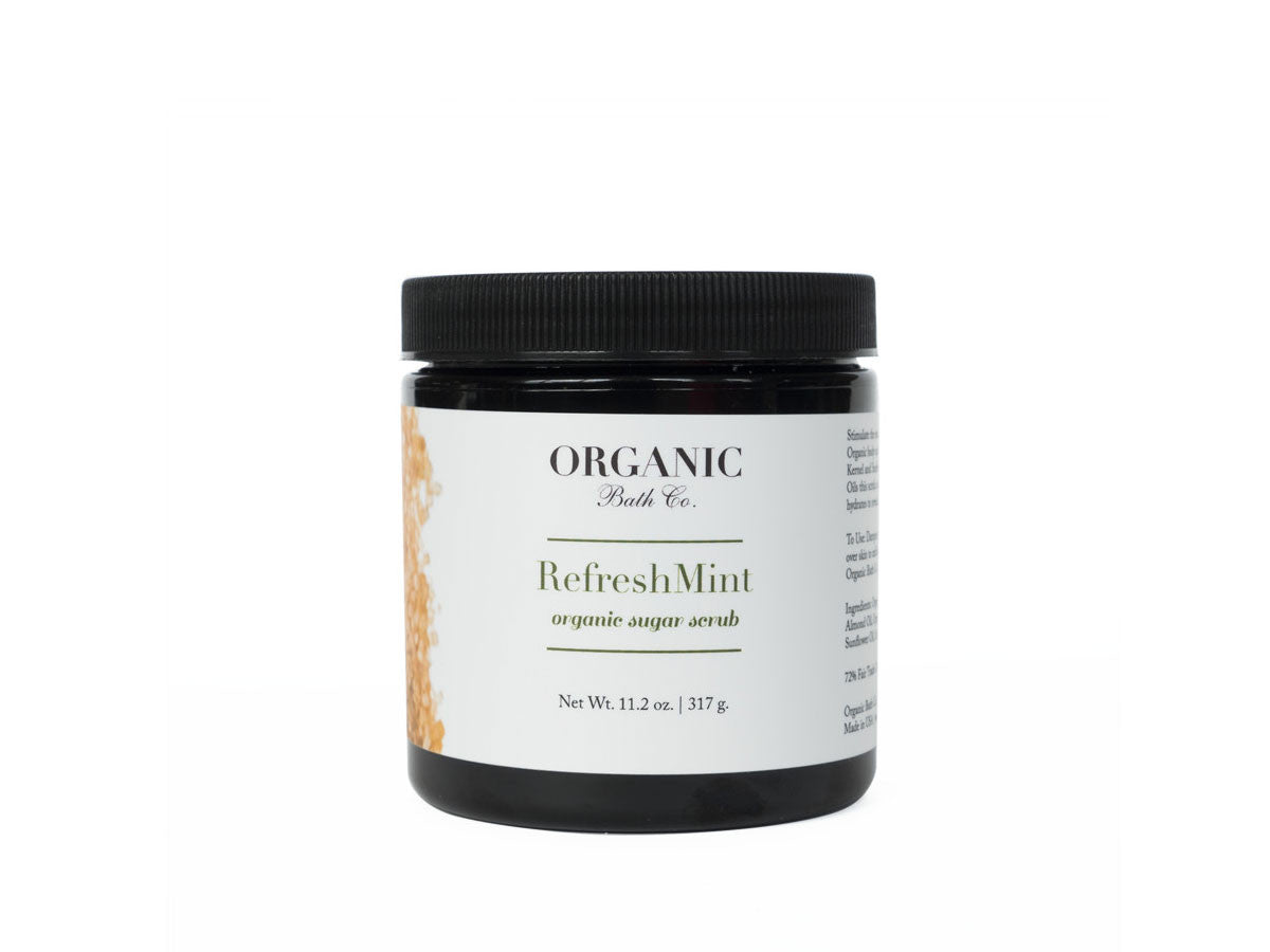 Organic Bath Co. RefreshMINT Organic Body Scrub, Organic Bath Co. - ShopConsciousBeauty.com
