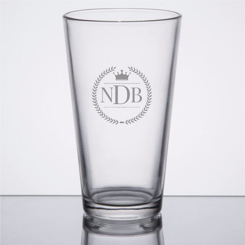 Monogrammed Pint Glass