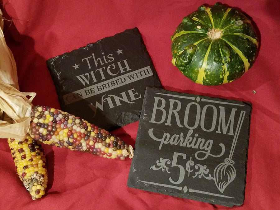 Halloween Witch Coasters Set of 4 Slate Coasters