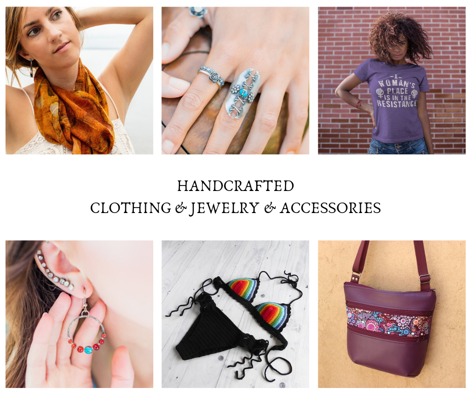 Handcrafted Clothing and Jewelry and Accessories Bonfire Design 2018 Holiday Gift Guide Blog Post