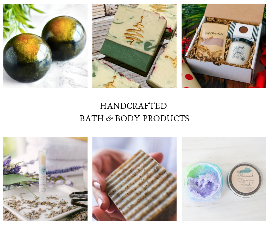 Handcrafted Bath and Body Products Curated by Bonfire Design 2018 Holiday Gift Guide Blog Post