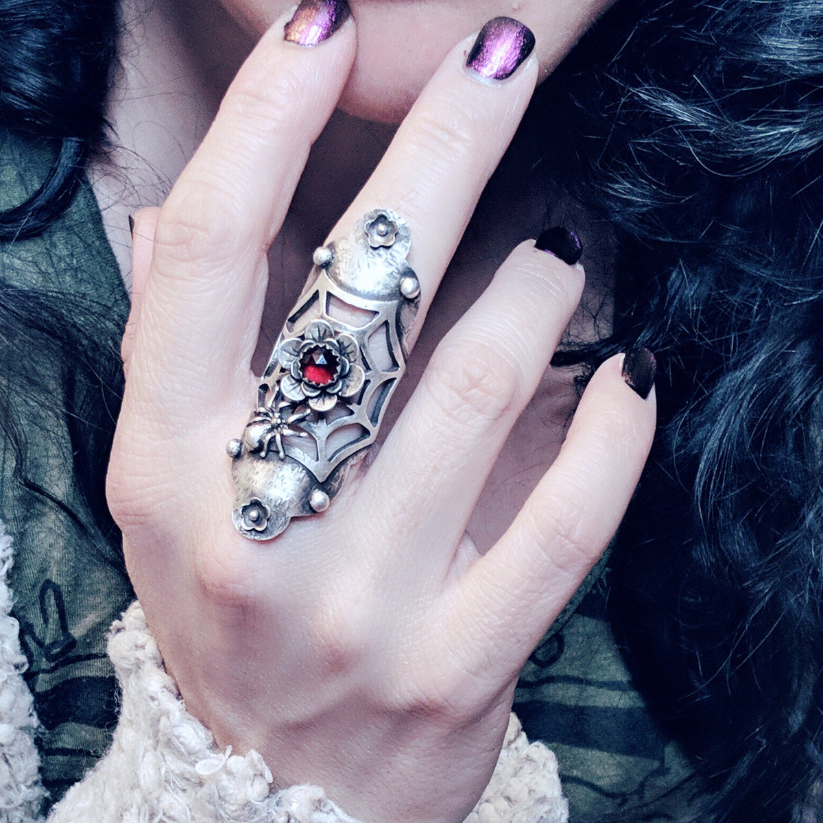 Spider Web Statement Ring