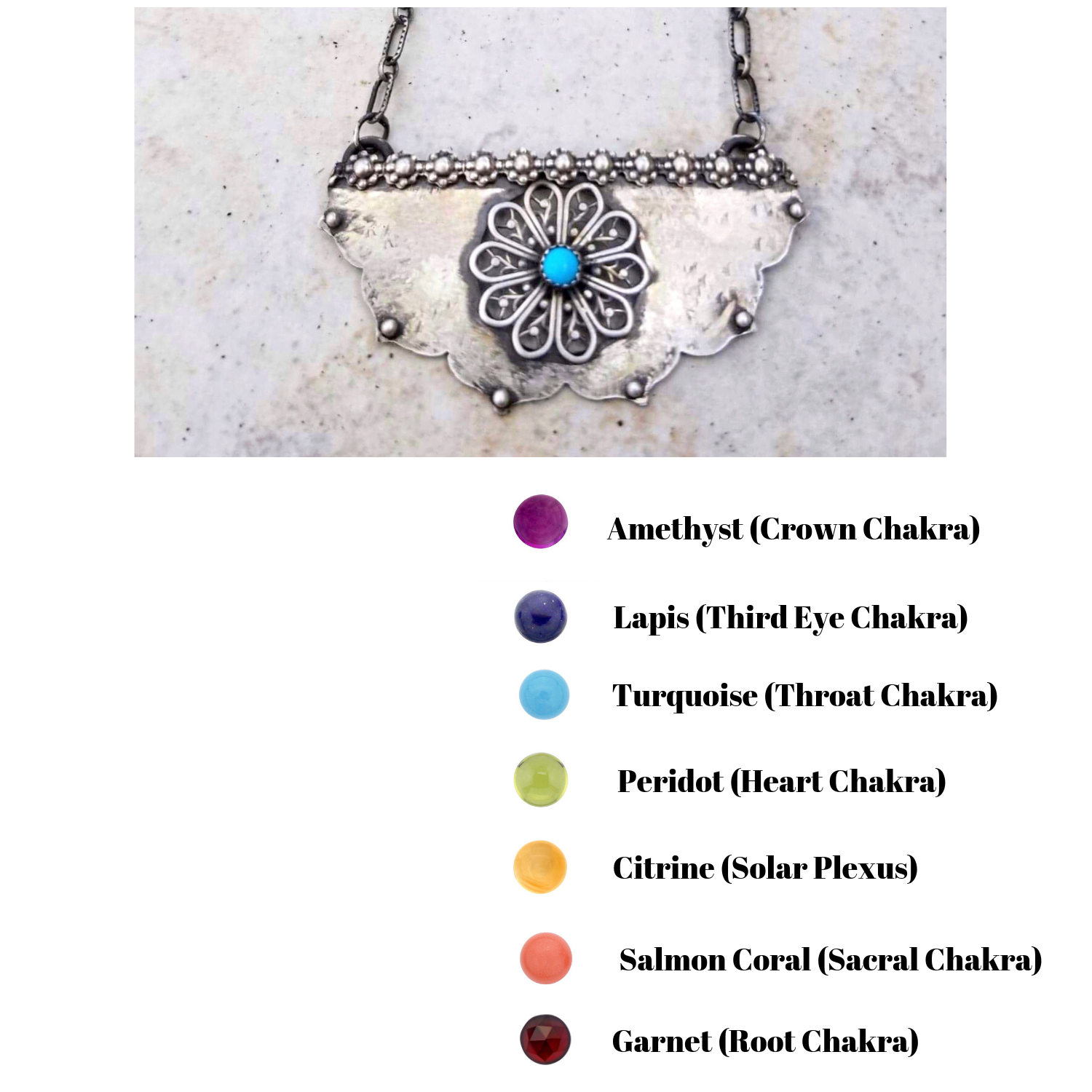 Lotus Necklace with Mandala Flower and Chakra Gemstones