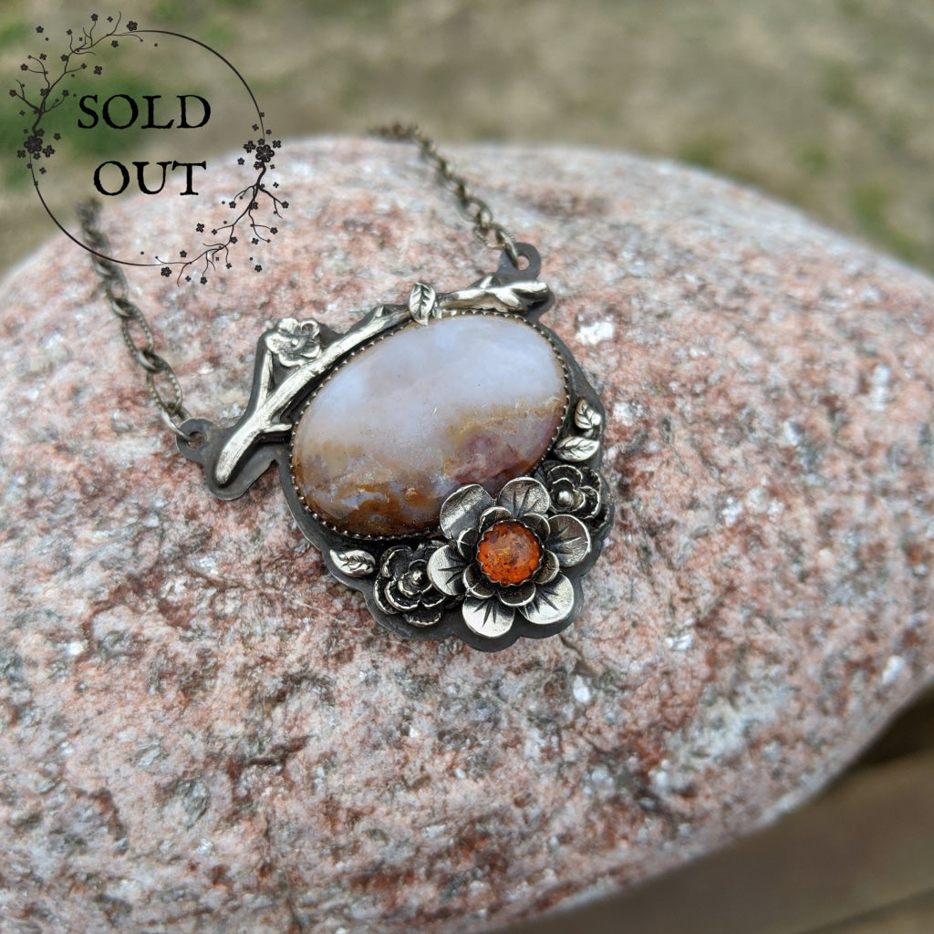 Enchanted Earth Collection Branch and Amber Necklace