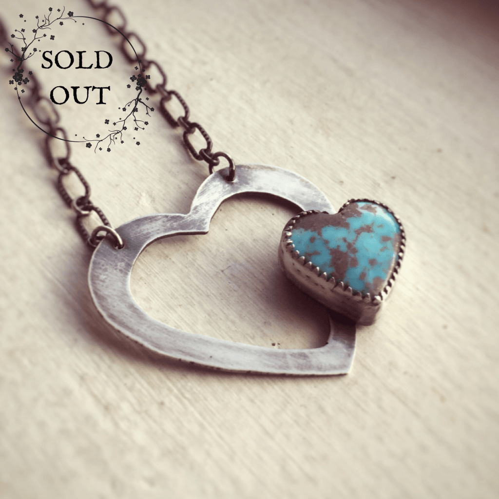 Heart and Turquoise Necklace