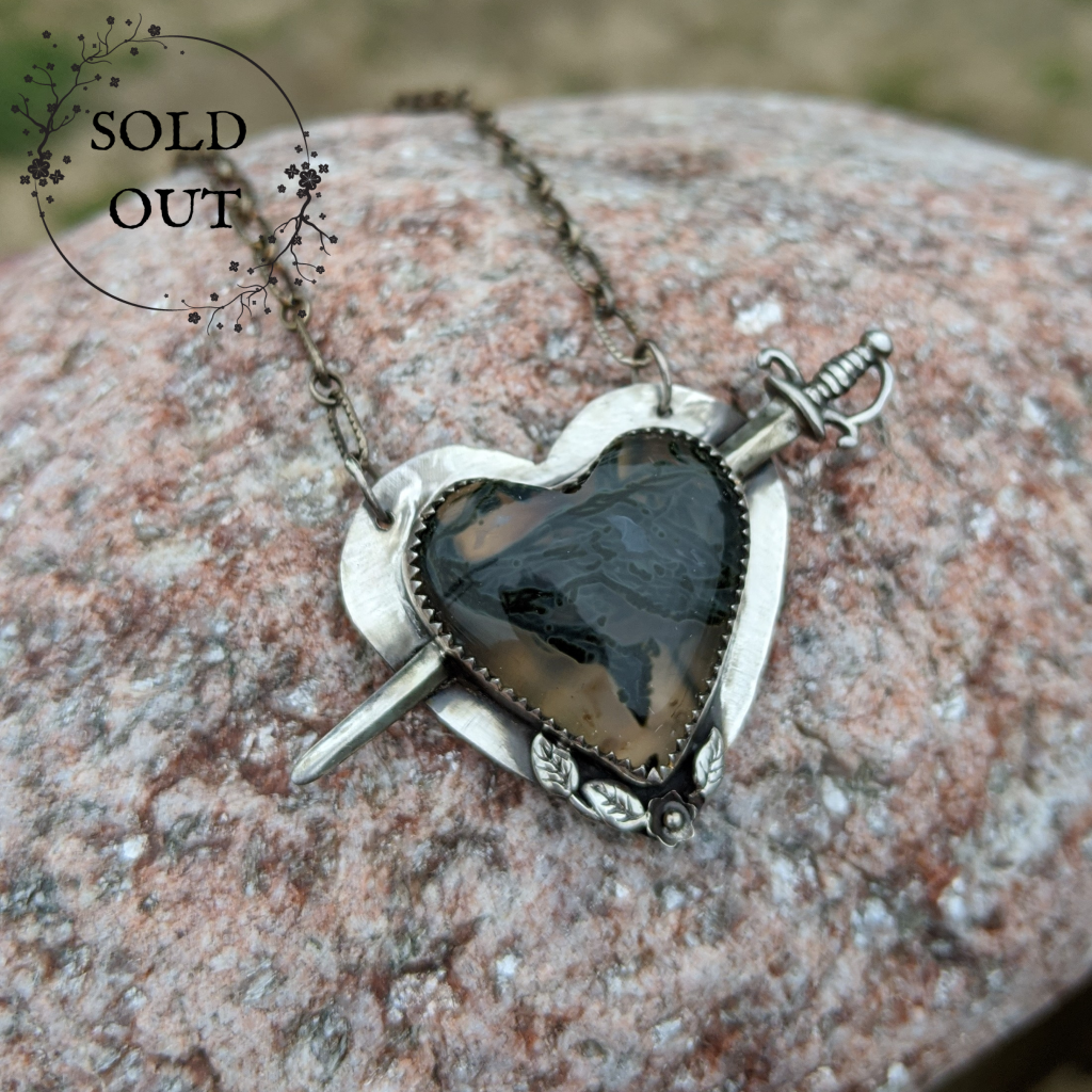 Enchanted Earth Collection Oregon Moss Heart Necklace
