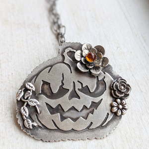 Jack-o'-lantern Necklace / Samhain Special