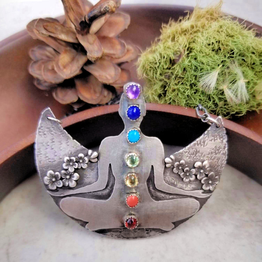 Chakra Meditation Statement Necklace