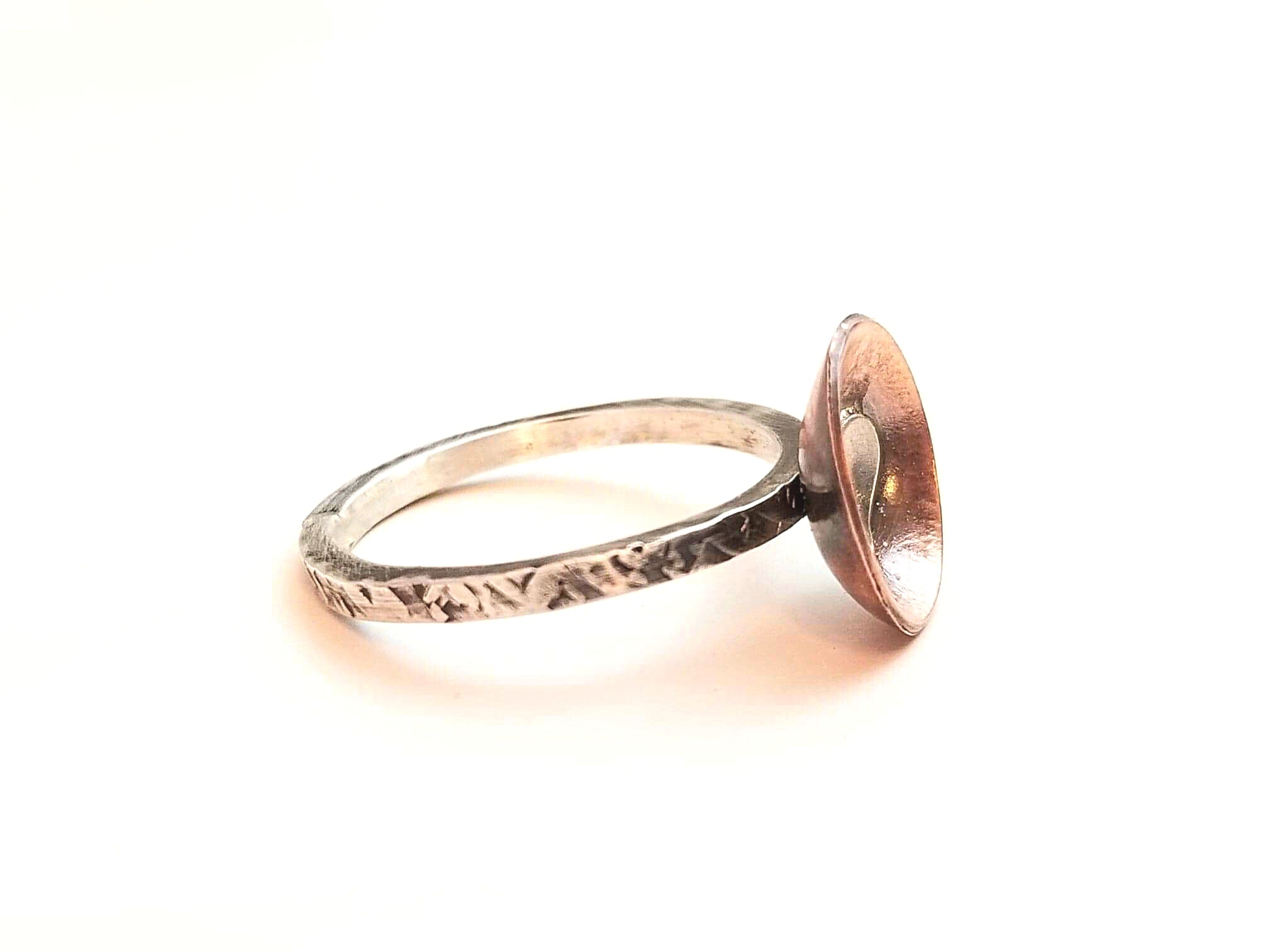 Copper Bowl Heart Ring