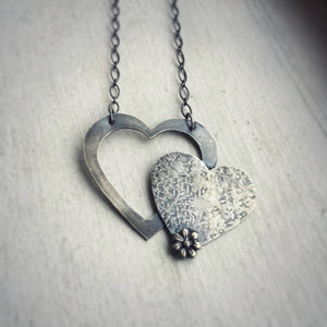 Heart with Heart Necklace