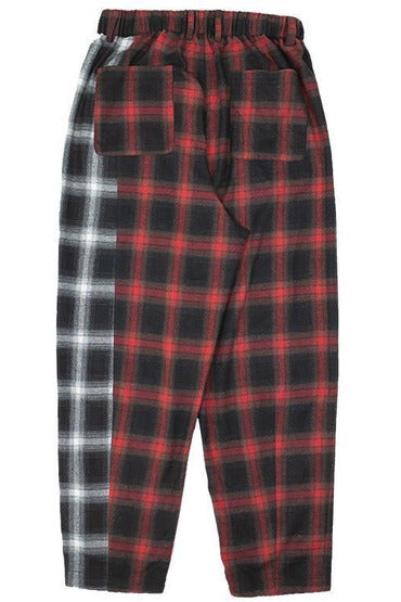 Empty Reference Plaid Stitching Trousers