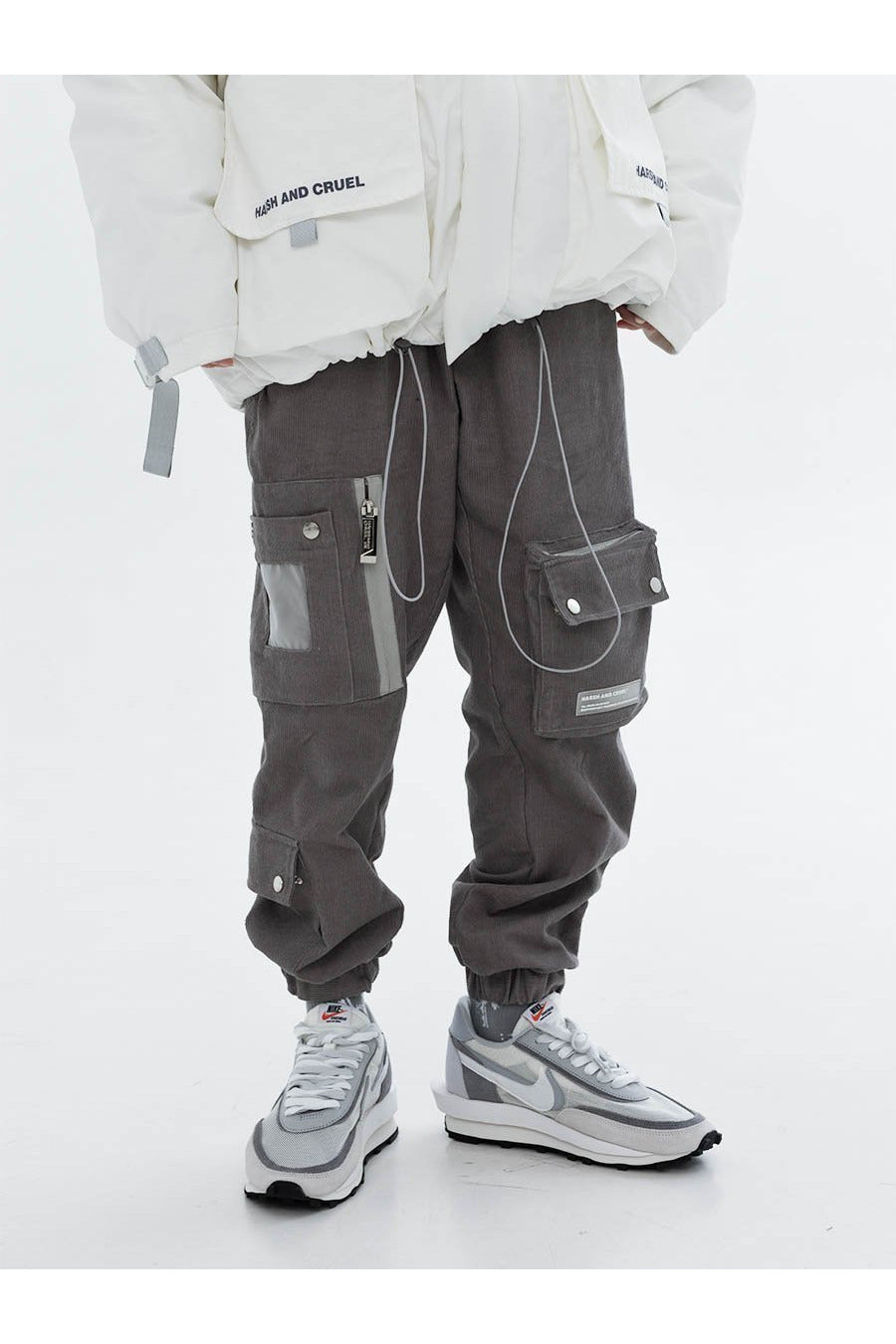 Harsh and Cruel Corduroy Cargo Pants