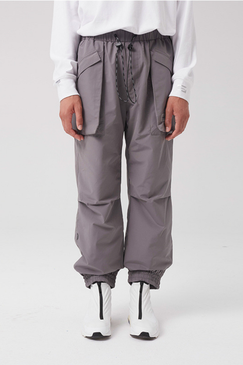 STEEPC Grey Drawstrings Pants