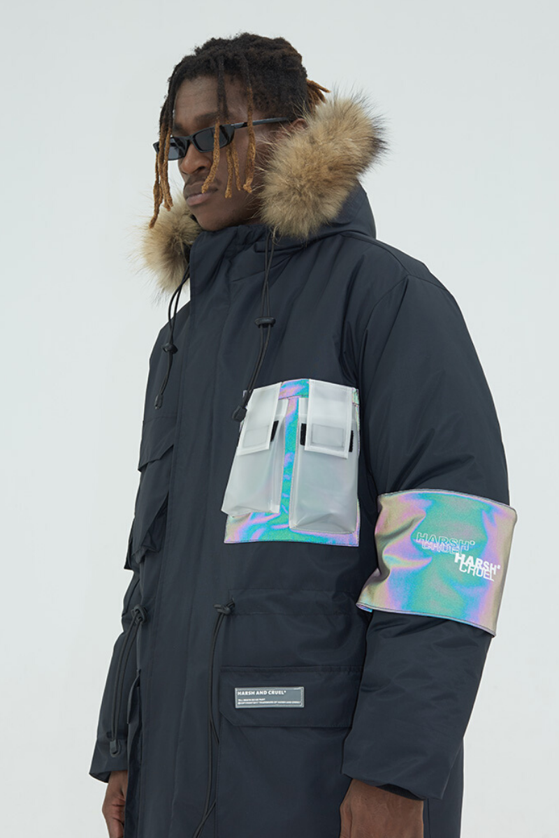 Harsh and Cruel Reflective Logo Parka