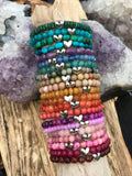 Little Heart Gemstone Stacker Bracelet