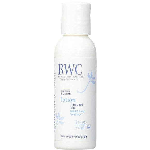 BWC Beauty Without Cruelty Fragrance Free Hand & Body lotion 2 oz Travel Size