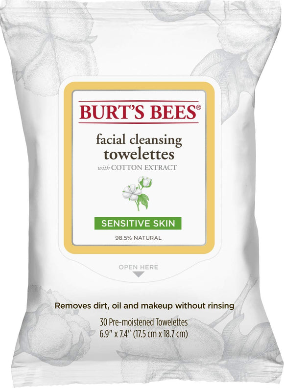 Burt's Bees Sensitive Facial Cleansing Towelettes - 10 Count