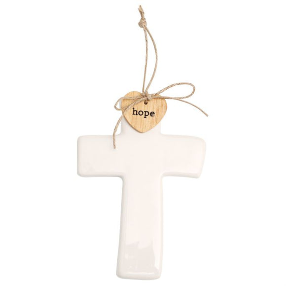 Ceramic Cross Sentiment Decorative Ornament