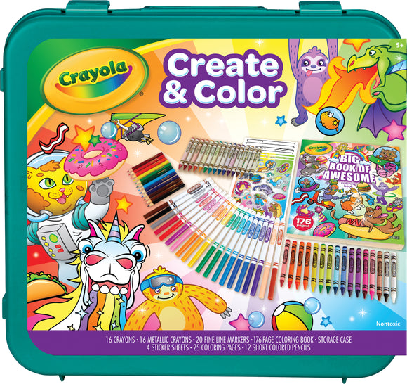 Crayola Create & Color 2-in-1 Art Storage Case & Lap Desk