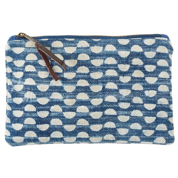 Dhurrie Cotton Abstract Print Porto Pouch