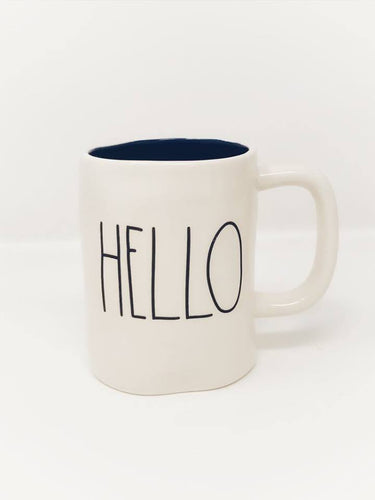 Rae Dunn by Magenta 'HELLO' Mug with blue interior