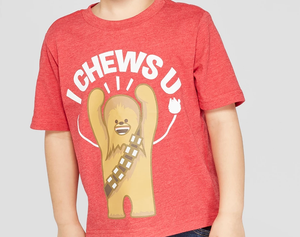 "Star Wars Chewbacca T-Shirt ""I Chews U"""