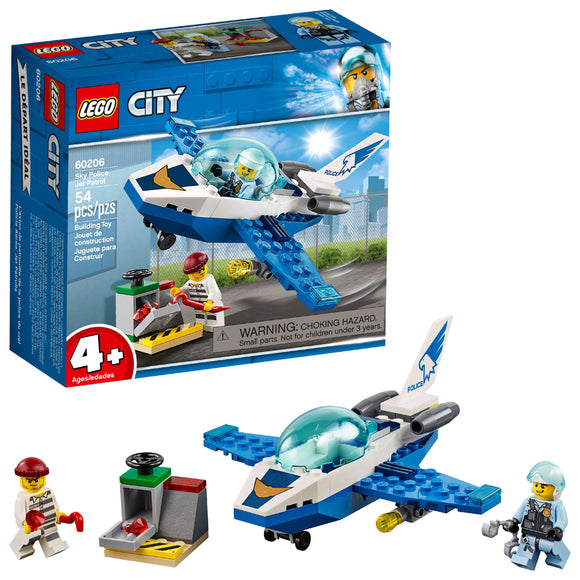 LEGO City Police Sky Police Jet Patrol Airplane Toy 60206