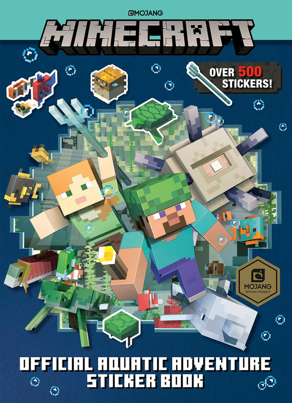 Minecraft Official Aquatic Adventure Sticker Book