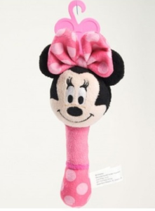Minnie Mouse Plush Shake Me Stick Rattle