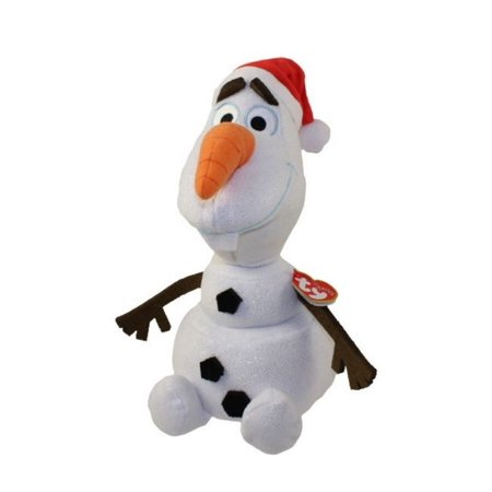 Disney Frozen Olaf Sparkle Beanie Baby with Santa Hat by TY