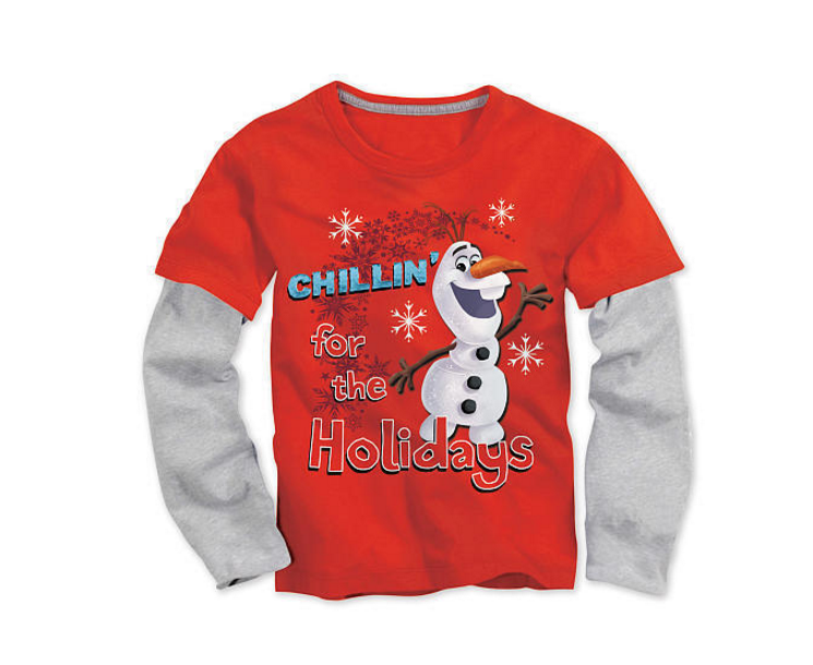 'Chillin' for the Holidays' - Toddler Boys Olaf Tee