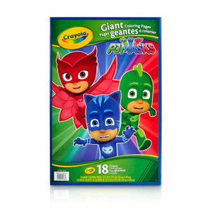 Crayola PJ Masks Giant Coloring Pages, 18 Sheets