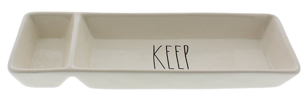Rae Dunn Large Letter KEEP Desk Organizer