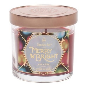 4oz Lidded Glass Jar Candle Merry & Bright - Signature Soy