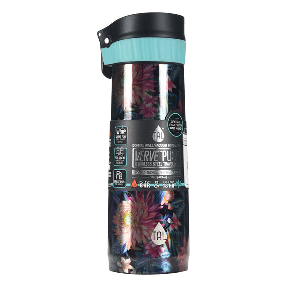 Tal Verve Stainless Steel 16 Oz. Travel Mug -  Garden