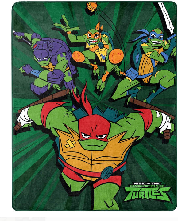 Nickelodeon Teenage Mutant Ninja Turtles (TMNT) Silky Soft Throw