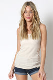 Ribbed Double Scoop Tank Top