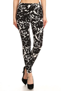 Black Roses Buttery Soft Leggings