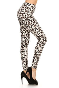 Brown Floral Buttery Soft Leggings