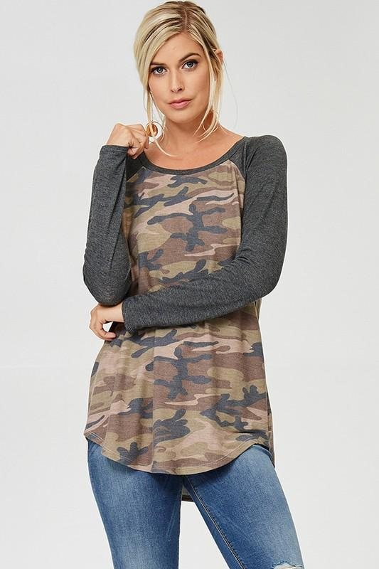 Camouflage Tunic Top