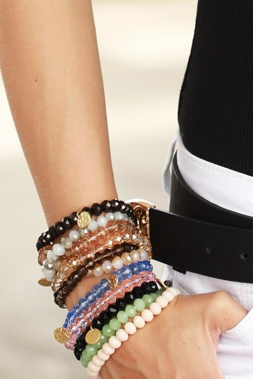 Crystal Bead Stretchable Bracelets