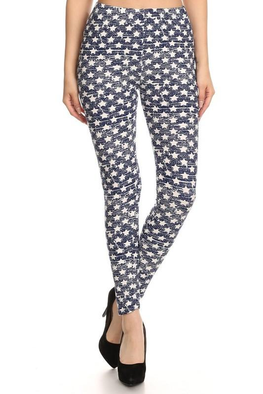 Denim Stars Buttery Soft Leggings