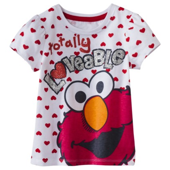 Elmo Totally Loveable Short Sleeve Tee for Girls