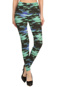 Galaxy Green Buttery Soft Leggings