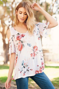 Peony Cold Shoulder Top